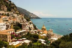 Een mening van Positano Royalty-vrije Stock Fotografie
