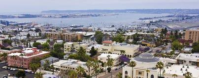 Een Mening van San Diego Bay van Bankiersheuvel, San Diego Royalty-vrije Stock Fotografie