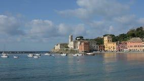 Een mening van Sestri Levante Italië stock footage