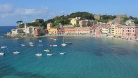 Een mening van Sestri Levante Italië stock videobeelden