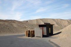 Een mening van toilet in de Vallei van de Dood Royalty-vrije Stock Afbeeldingen