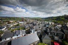 Een mening van Totnes, Devon Stock Afbeeldingen