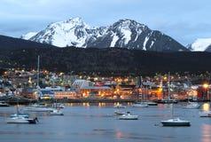 Een mening van Ushuaia, Tierra del Fuego Stock Foto