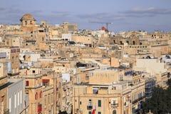 Een Mening van Valletta, Hoofdstad van Malta Royalty-vrije Stock Afbeeldingen