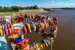Een mening van Veliky Novgorod, Rusland Stock Foto's