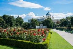 Een mening van Volksgarten-park in Wenen Stock Afbeeldingen