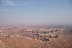 Een mening vanaf de bovenkant van het Nationale Park van Canyonlands in Utah, de V.S. royalty-vrije stock foto's