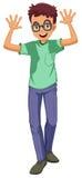 Een mens die glazen dragen vector illustratie