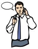 Een mens die op een Mobiele Telefoon spreekt. JPG en EPS Royalty-vrije Stock Foto