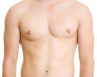 Een mens met een naakt torso. royalty-vrije stock fotografie
