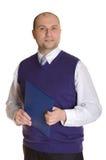 Een mens met een omslag Royalty-vrije Stock Foto