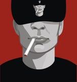 Een mens met een sigaret Stock Foto's