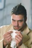 Een mens met een zakdoek Royalty-vrije Stock Afbeelding