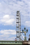Een mens met oog van Londen royalty-vrije stock afbeelding
