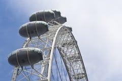 Een mens met oog van Londen stock afbeeldingen