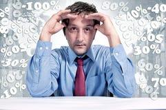 De problemen van financiën Stock Foto's