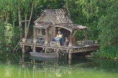 Een mens visserij Royalty-vrije Stock Afbeelding