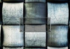 Een metaalplaat als achtergrond Stock Foto's