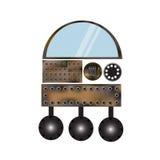 Een metaalrobot Stock Foto's