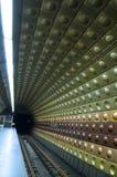 Een metropost ondergronds in Boedapest Stock Afbeeldingen