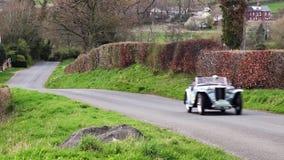 Een 1948 MG TC in Cumbria, Engeland stock video