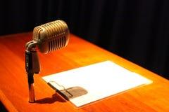 Een microfoon Royalty-vrije Stock Foto