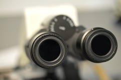 Een Microscoopooglens Stock Foto's