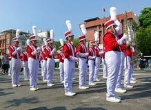 Een Middelbare school het Marcheren Band Royalty-vrije Stock Fotografie