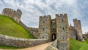 Een middeleeuws kasteel in Engeland royalty-vrije stock foto