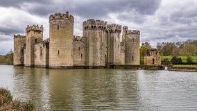 Een middeleeuws kasteel in Zuidelijk Engeland royalty-vrije stock foto's
