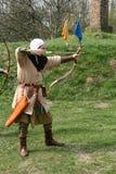 Een middeleeuwse schutter Stock Afbeeldingen
