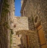 Een middeleeuwse straat Stock Foto