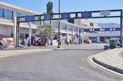 Een migrerend vluchtelingskamp in Athene, Griekenland Royalty-vrije Stock Afbeelding