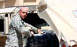 Een militair stock foto