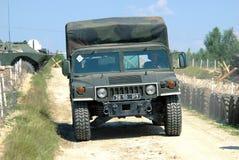 Een militaire vrachtwagen Stock Fotografie
