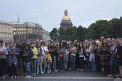 Een minuut stilte voor de slachtoffers van Royalty-vrije Stock Afbeeldingen