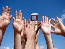 Een mobiele telefoon Stock Foto