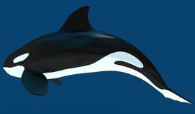 Een model van een gestileerde orka 3D Illustratie Stock Foto
