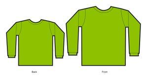 Een model van een t-shirtontwerp Stock Afbeeldingen