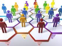 Een model van een team met de nadruk op diversiteit Stock Afbeeldingen