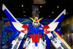 Een model van het karakter Gundam van films en strippagina 17 Stock Foto