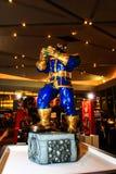 Een model van het karakter Thanos van de films en de strippagina Royalty-vrije Stock Foto