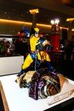 Een model van karakterwolverine van de films en de strippagina Royalty-vrije Stock Afbeeldingen
