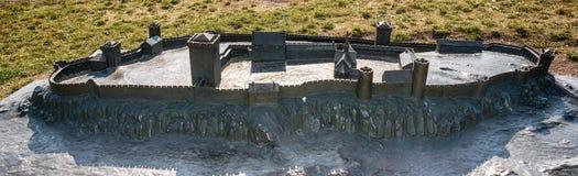 Een model van Tønsberg-het festning van Vestingstunsberg, Noorwegen royalty-vrije stock afbeeldingen