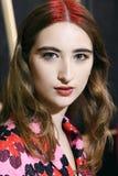 Een model wordt gezien voor Aigner toont tijdens Milan Fashion Week Spring /Summer 2018 Stock Foto