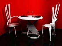 Een modern binnenland met de stoelen en een lijst vector illustratie