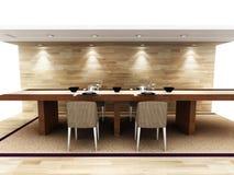 Een modern dinning gebied Royalty-vrije Stock Afbeelding