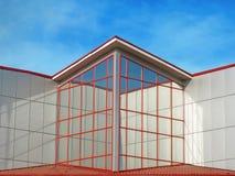 Een modern gebouw. royalty-vrije stock foto