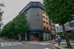 Een modern hotel bij de stad in van Busan stock fotografie