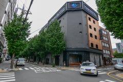 Een modern hotel bij de stad in van Busan royalty-vrije stock fotografie